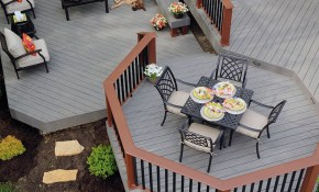 With The Look And Feel Of Wood Timbertech Decking In Silver Maple with regard to 10 Awesome Ways How to Craft Backyard Decks And Patios Ideas