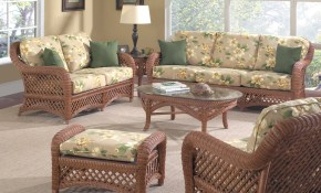 Wonderful Wicker Furniture Indoor Set Tantalizing Modern throughout Wicker Living Room Sets