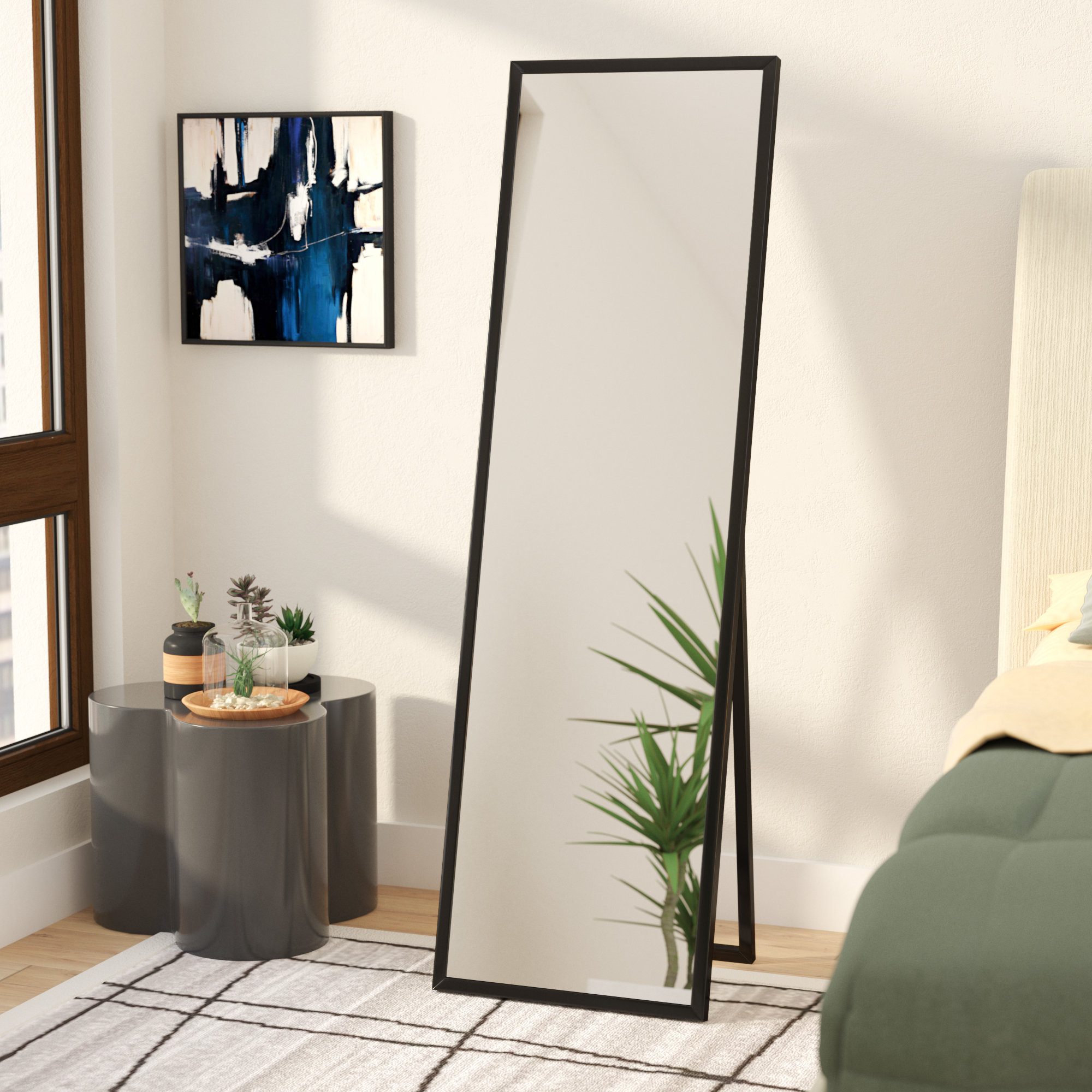 Wrought Studio Mcgary Free Standing Floor Modern Contemporary Full regarding Modern Bedroom Mirrors