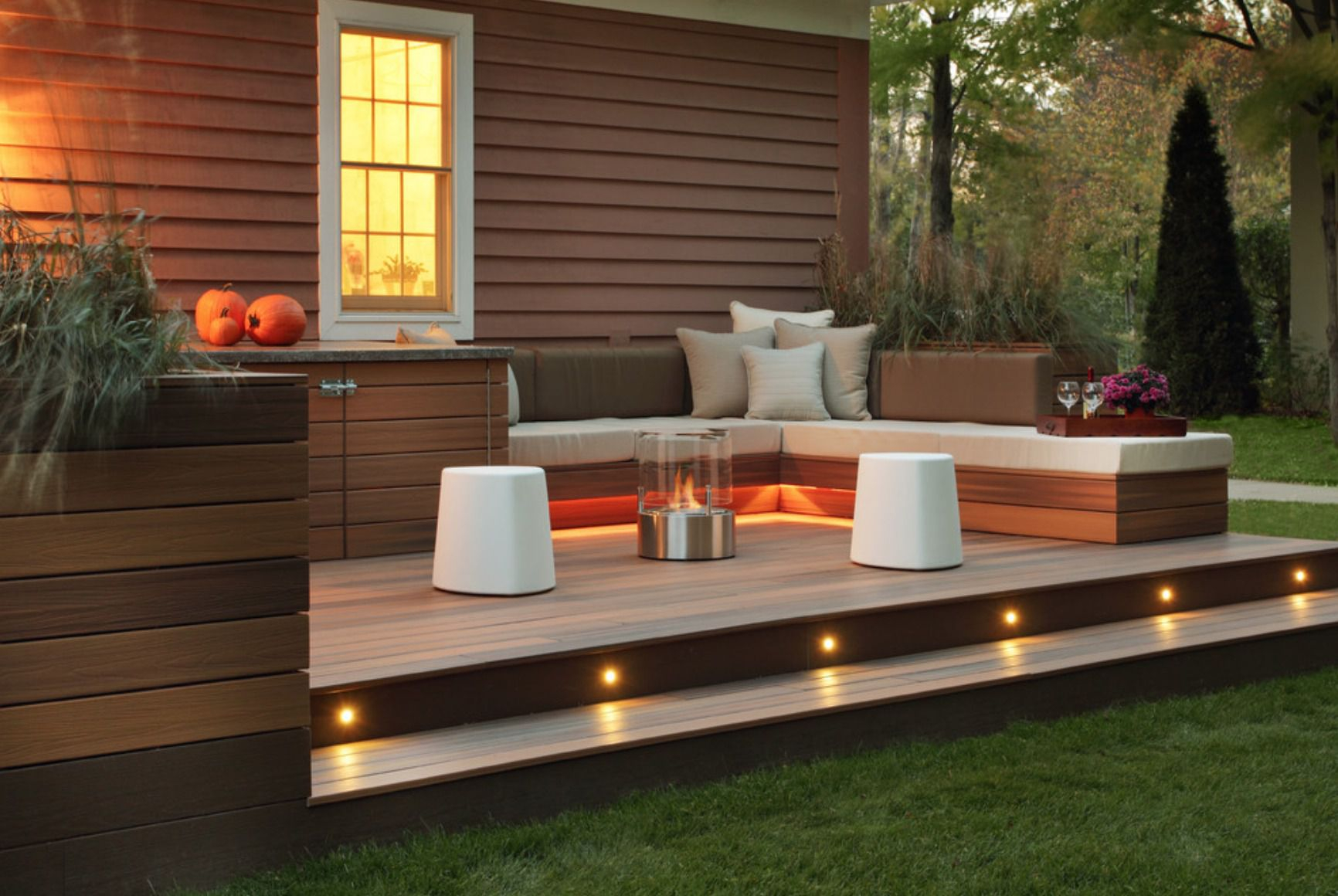 15 Deck Lighting Ideas For Every Season intended for 14 Some of the Coolest Ways How to Craft Decorating Backyard With Lights