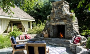 20 Of The Coolest Outdoor Fireplaces Freshome intended for Backyard Fireplace Ideas