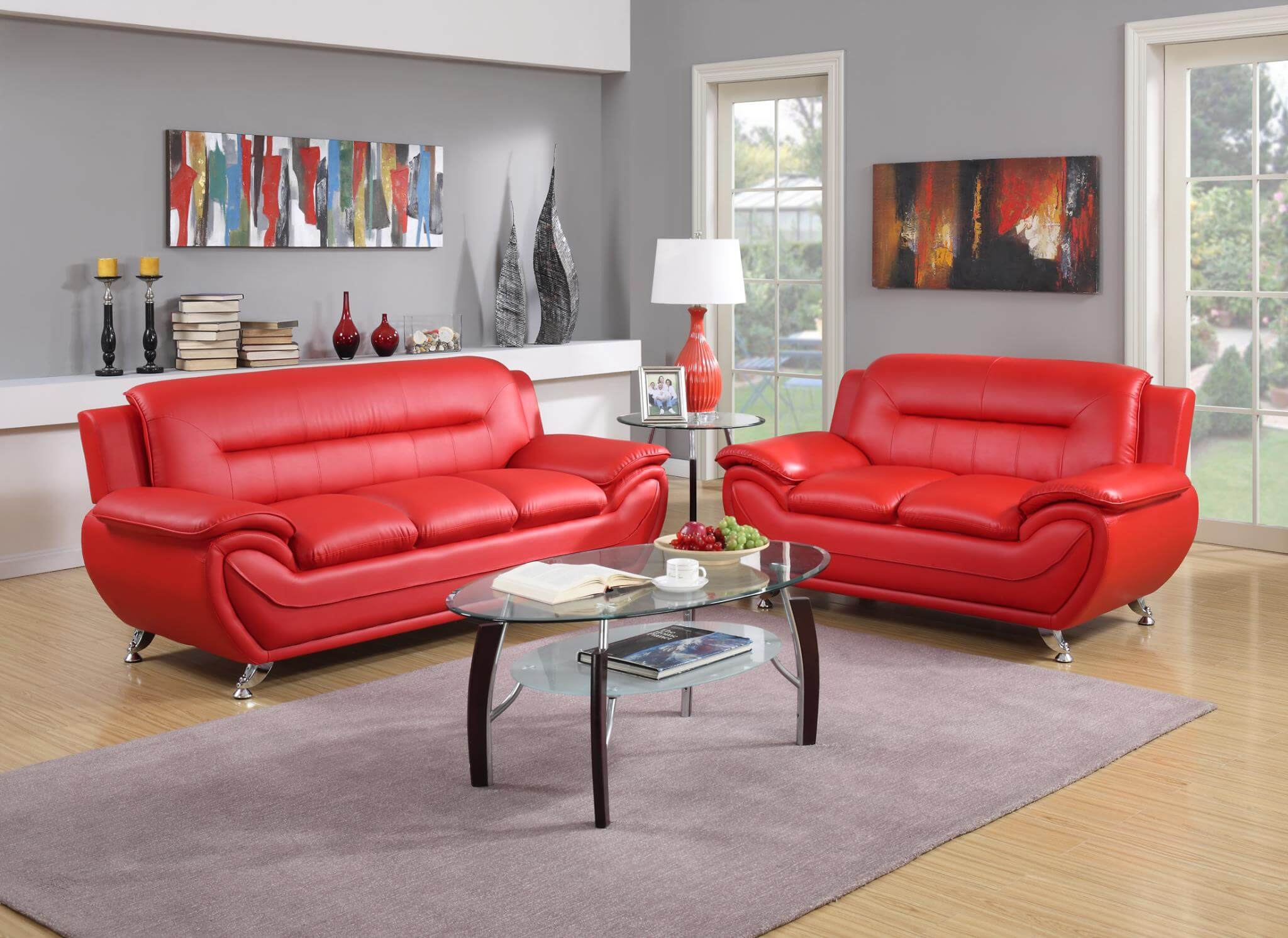 2703 Red Contemporary Living Room Set regarding 11 Genius Initiatives of How to Improve Red Living Room Sets