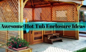 30 Awesome Hot Tub Enclosure Ideas For Your Backyard The Rex Garden inside Backyard Ideas With Hot Tub