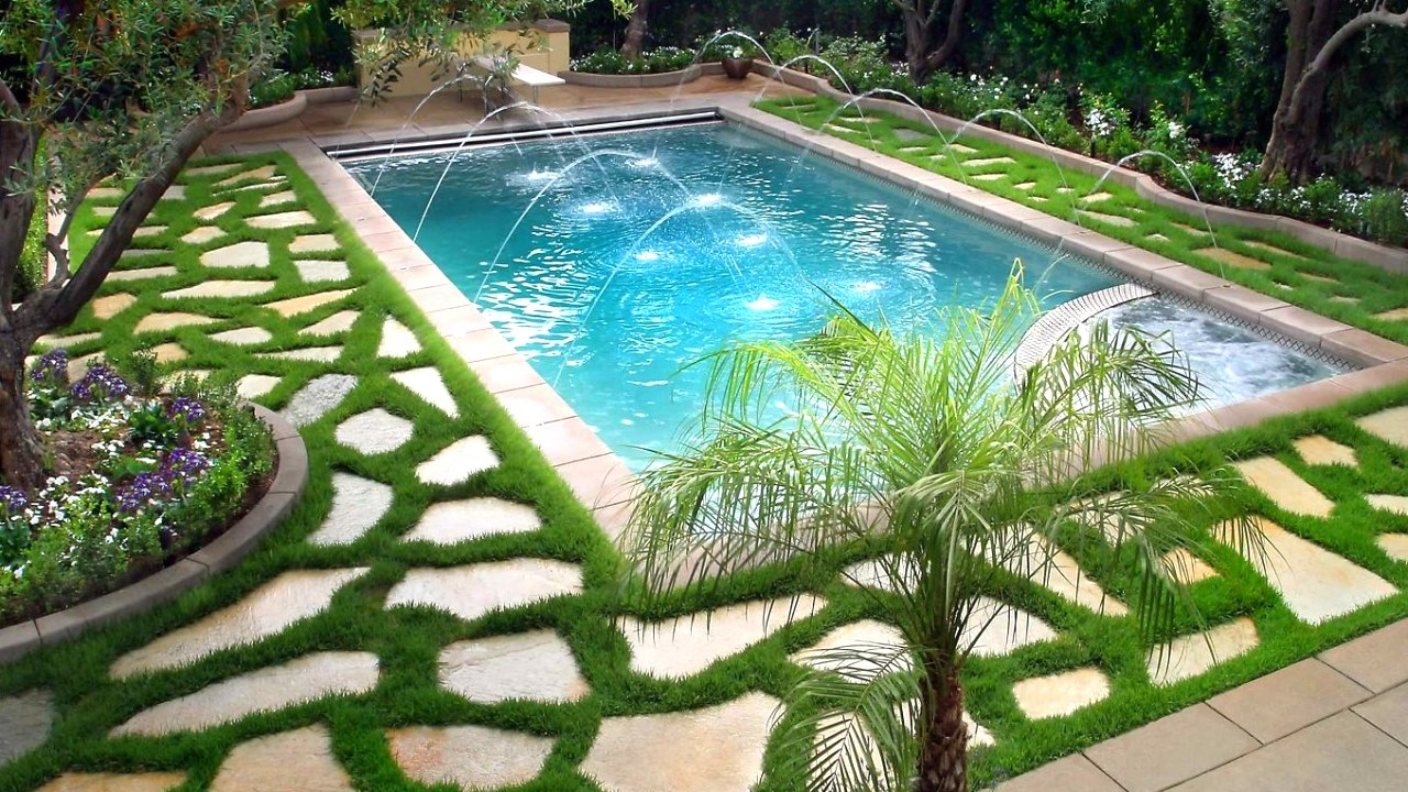30 Swimming Pools Best Landscaping Ideas Part 4 within Small Backyard Pool Landscaping Ideas