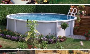 40 Uniquely Awesome Above Ground Pools With Decks pertaining to Backyard Landscaping Above Ground Pool