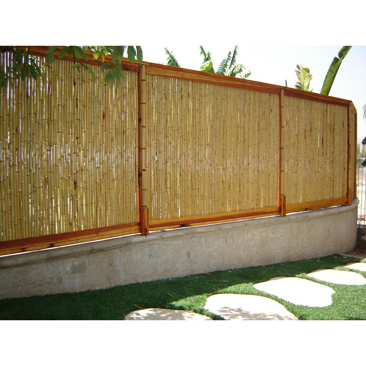 8 Ft W Rolled Bamboo Fence Panel pertaining to 10 Awesome Initiatives of How to Build Backyard XScapes Reed Fencing