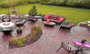 Amazing Concrete Bricks Patio Design Ideas Stamped Concrete Patio intended for Backyard Stamped Concrete Patio Ideas