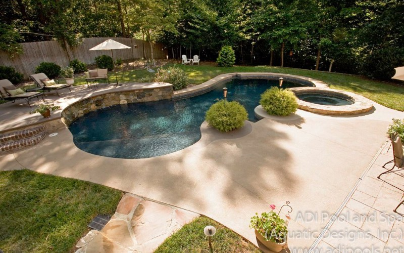Backyard Pool Landscaping Ideas Great Outdoors Swimming Pool pertaining to Backyard Pool And Landscaping Ideas