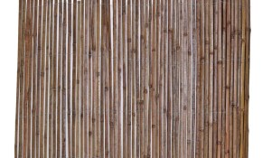 Backyard X Scapes 6 Ft H X 16 Ft L Bamboo Carbonized Split Slat Fencing with regard to Home Depot Backyard Fence
