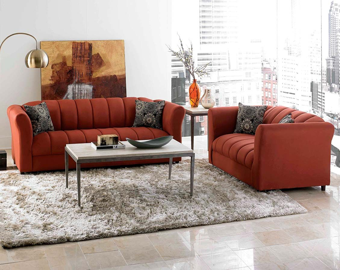 Bold Red Couch Set Factory Select Sofa And Loveseat Housestuff inside Cheap Living Room Set