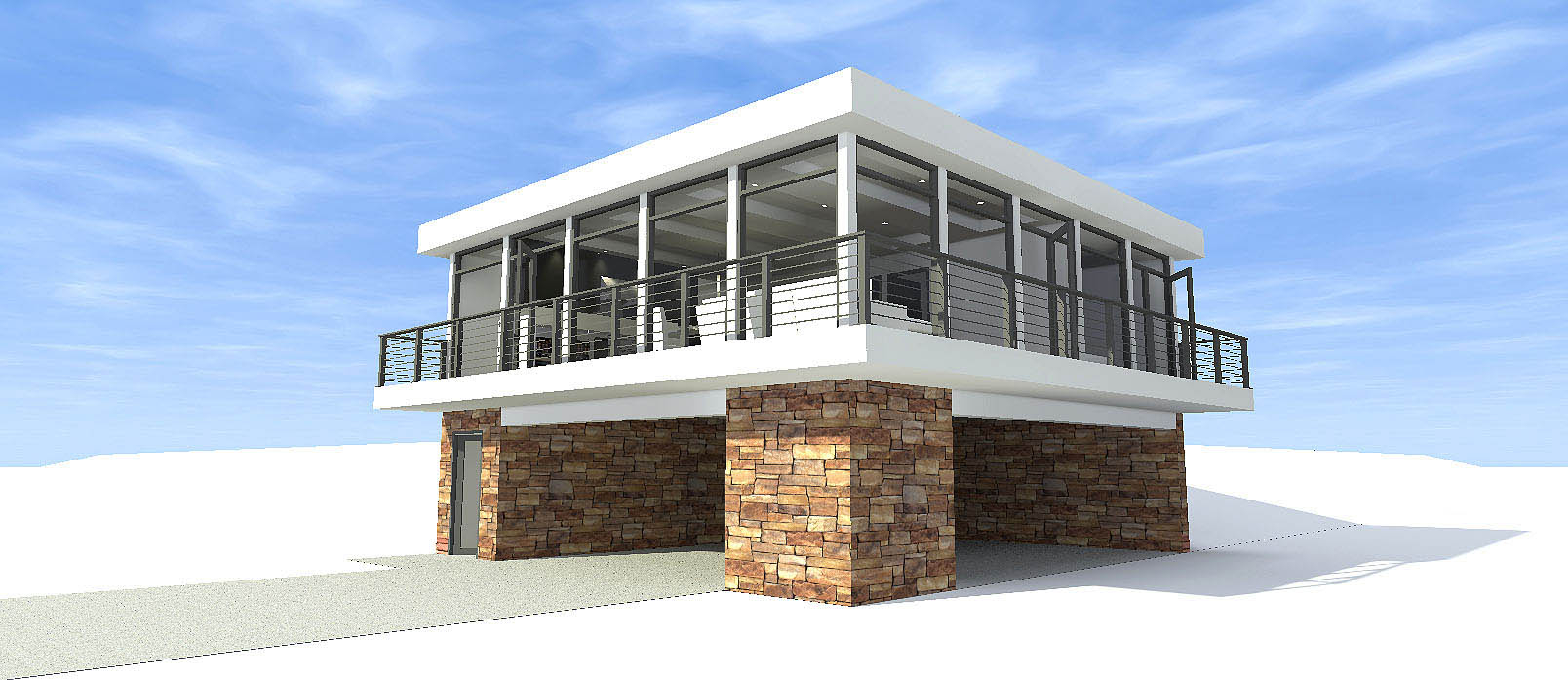 Concrete Block Icf Designmodernhouse Plans Home Design 116 1082 within 2 Bedroom Modern House Plans