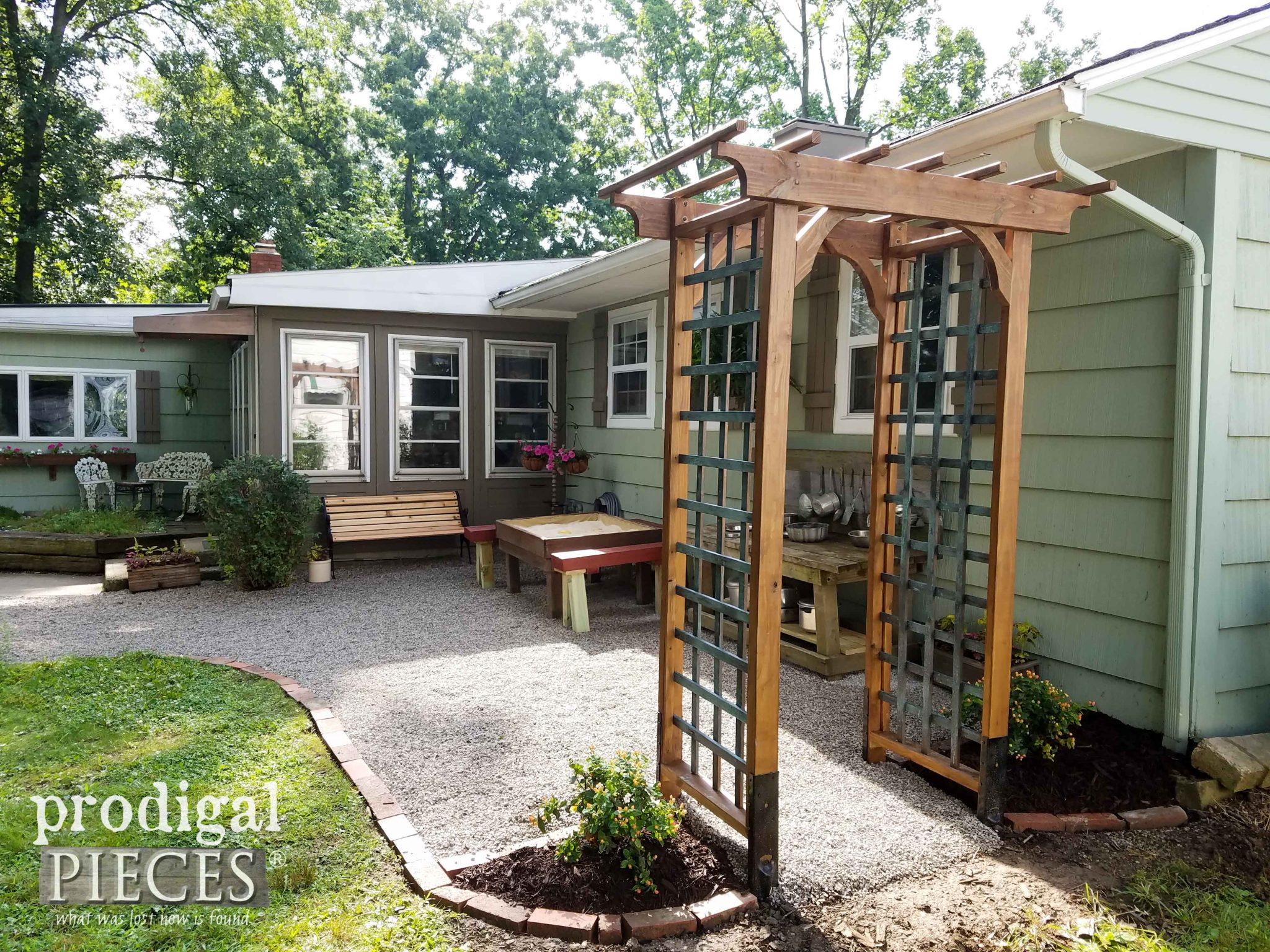 Diy Garden Arbor With Faux Patina Build Plans Prodigal Pieces with 11 Some of the Coolest Tricks of How to Makeover Backyard Arbor Ideas