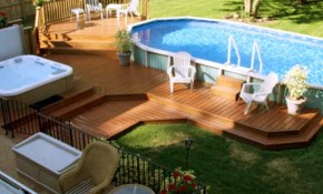 Exotic Backyard Pool Landscaping Ideas With Lots Of Chair For Out intended for 12 Smart Ideas How to Upgrade Backyard Landscaping With Above Ground Pool