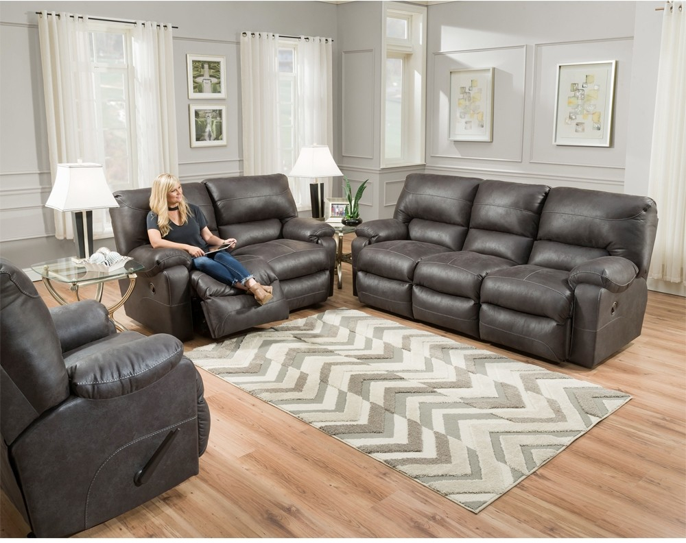 Franklin Vip Power Reclining Living Room Set In Hugo Grey throughout 13 Awesome Ideas How to Craft Recliner Living Room Sets