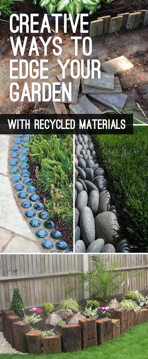 Garden Edging Landscape Edging Ideas With Recycled Materials The intended for Backyard Border Landscaping Ideas