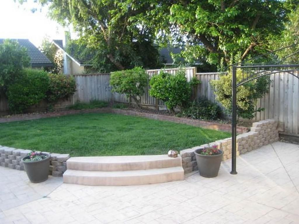 Garden Ideas Simple Small Backyard Landscaping Easy Rock And Designs intended for Simple Small Backyard Landscaping Ideas