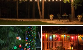 Globe String Lights Yard Envy for 14 Some of the Coolest Ways How to Craft Decorating Backyard With Lights