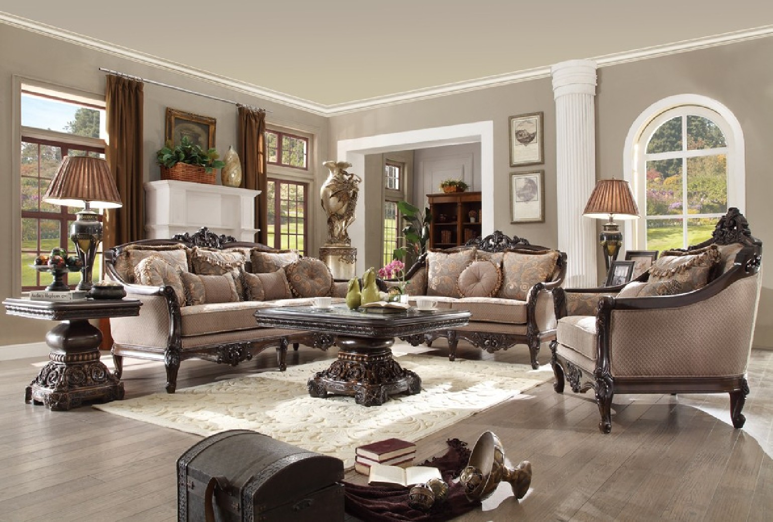 Hd 09 Homey Design Upholstery Living Room Set Victorian European Classic Design Sofa Set within 10 Clever Ideas How to Build Victorian Style Living Room Set