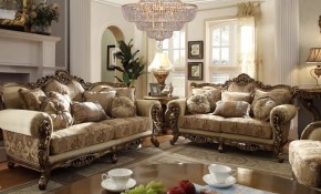 Homey Design Upholstery Living Room Set Victorian European Classic Design Sofa Set inside Traditional Living Room Sets