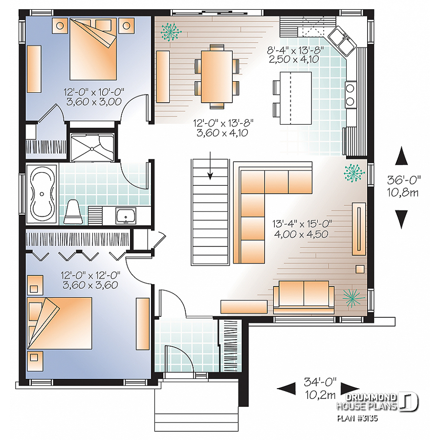 House Plan Camelia No 3135 with 2 Bedroom Modern House Plans