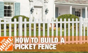 How To Build A Spaced Picket Fence The Home Depot with regard to How Much To Fence A Backyard