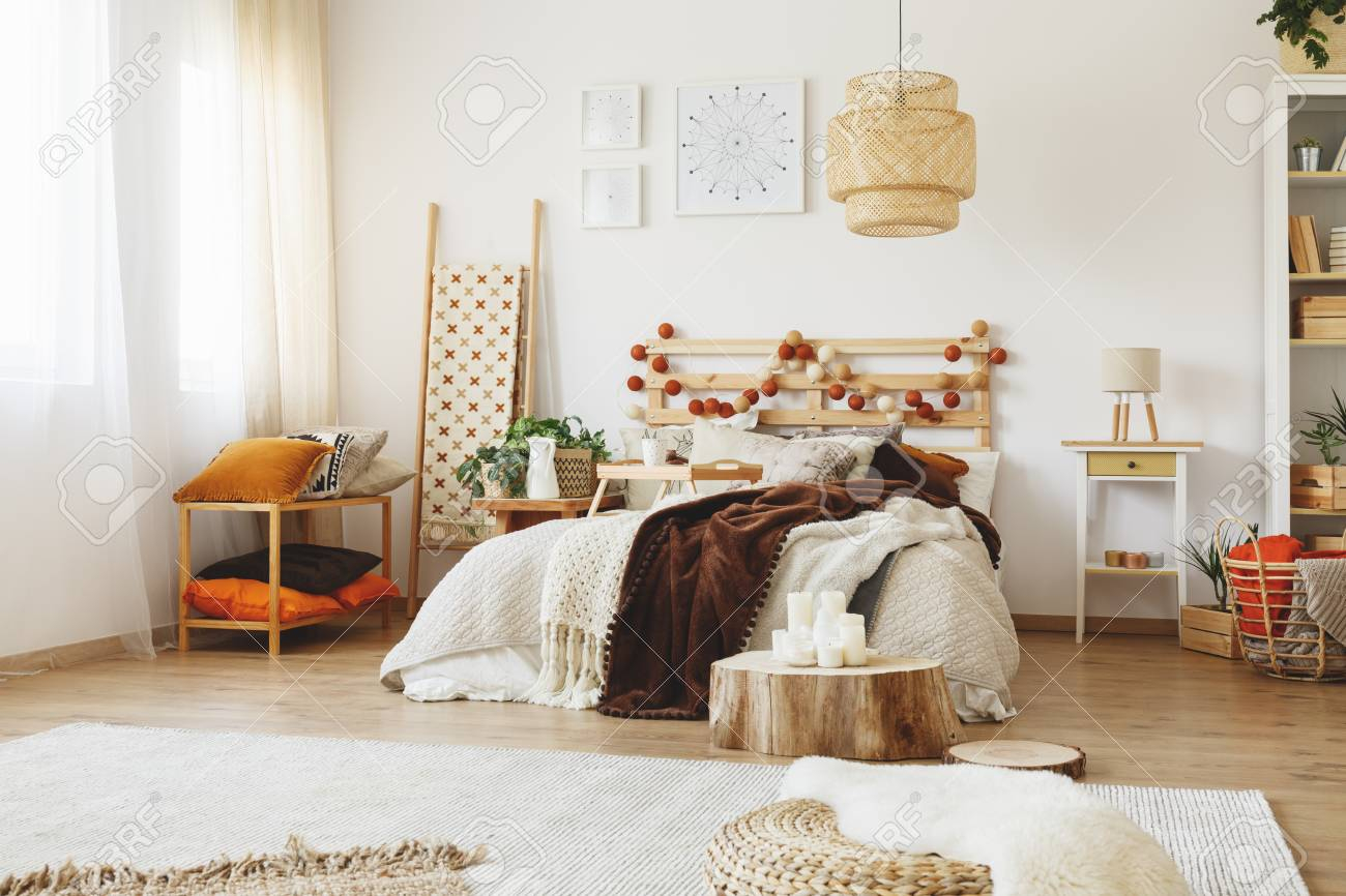 Hygge Style Modern Bedroom Interior With Decorations And Modern pertaining to 13 Awesome Tricks of How to Build Modern Bedroom Decorations