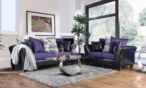 Kaelyn Living Room Set Black Purple within 12 Clever Ways How to Upgrade Purple Living Room Set