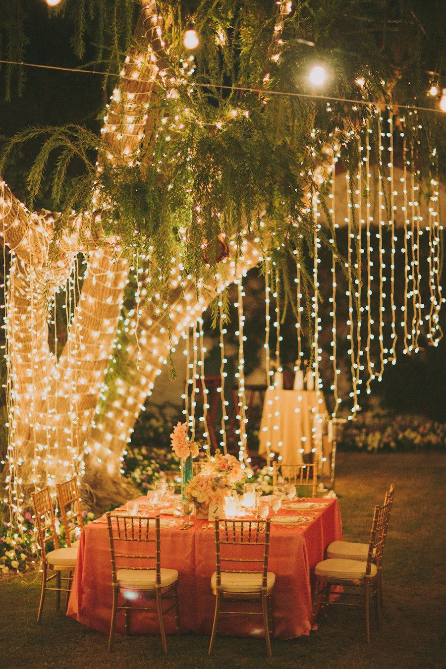 La Quinta Wedding From Fondly Forever Photography Moms Favs within Lighting Ideas For Backyard Party