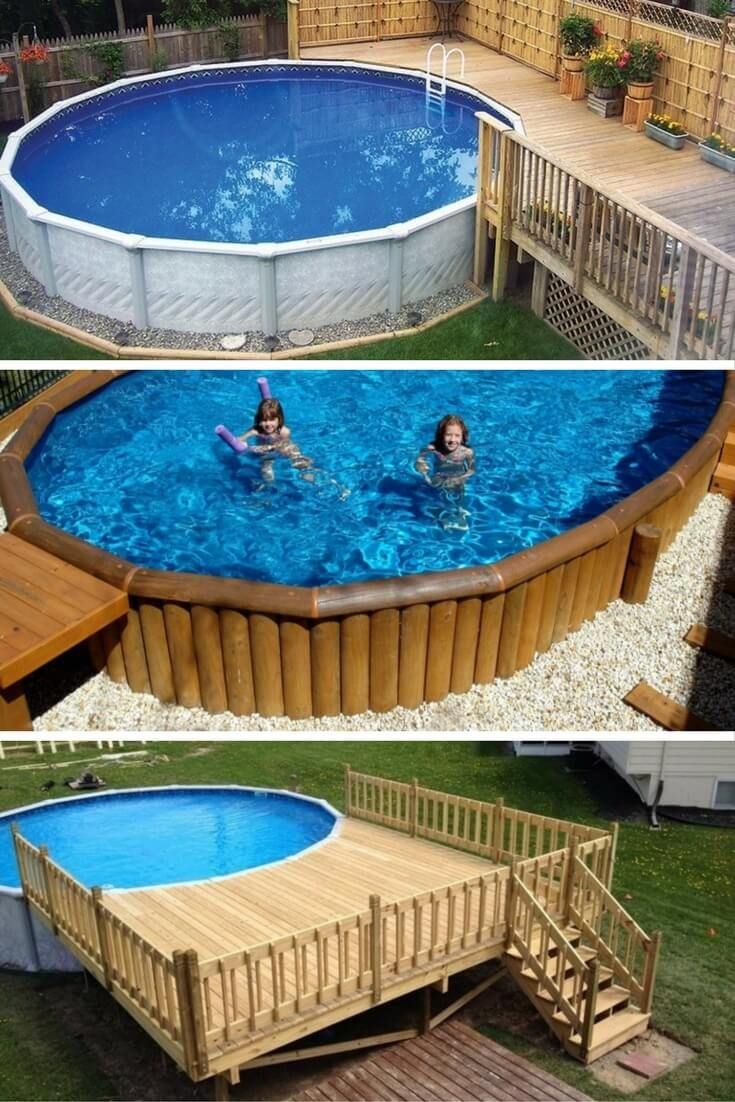 Landscaping Cool Above Ground Pool Landscaping For Backyard Ideas throughout 12 Smart Ideas How to Upgrade Backyard Landscaping With Above Ground Pool