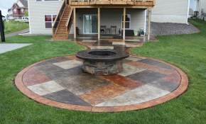 Large Backyard Stamped Concrete Patio Ideas Biaf Media Home Design intended for 12 Clever Tricks of How to Build Backyard Stamped Concrete Patio Ideas