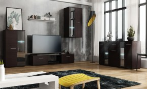 Living Room Set Wall Unit Chest Of Drawers Salsa Wenge Mebline inside Living Room Sets Uk