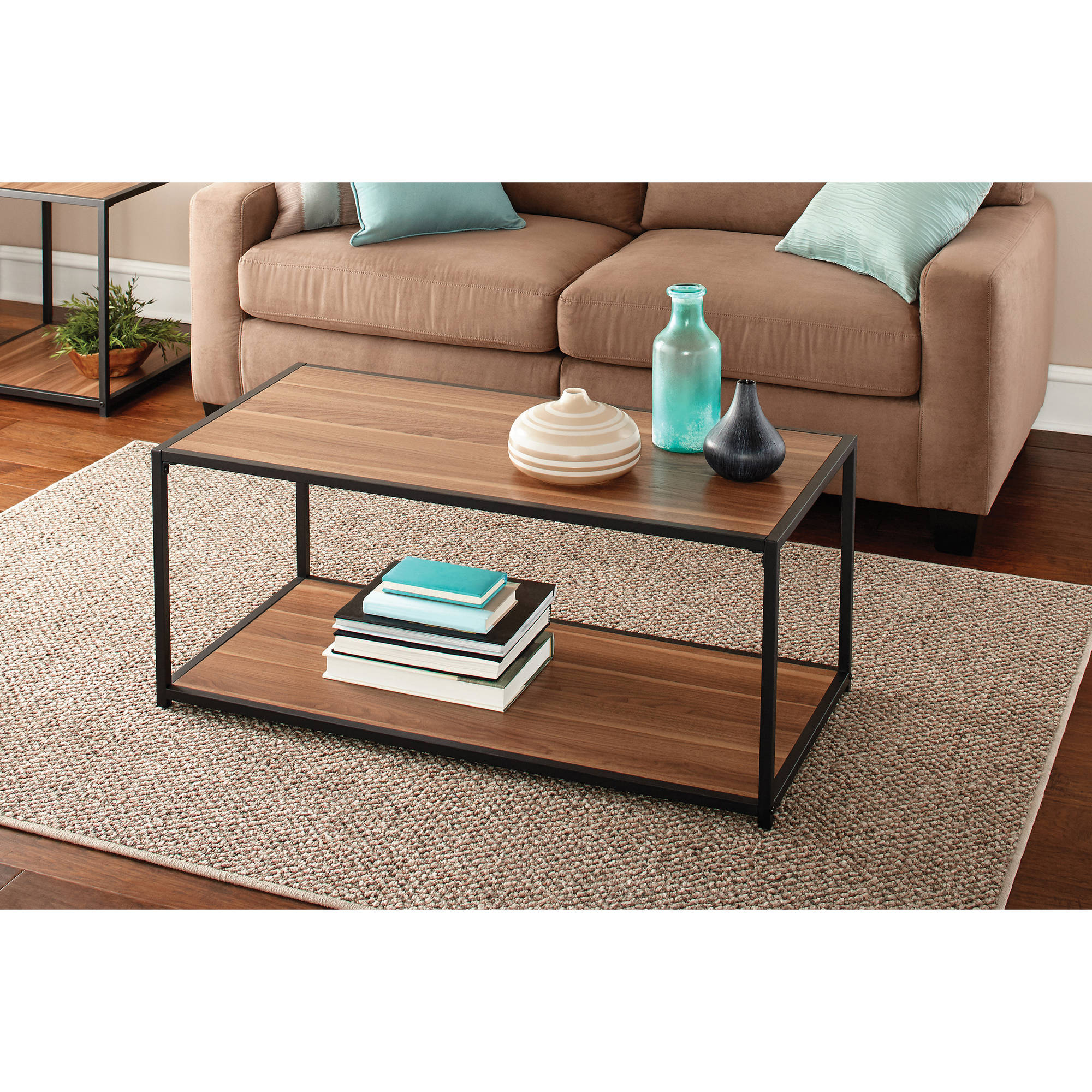 Mainstays Metro Coffee Table Multiple Finishes intended for Walmart Living Room Sets