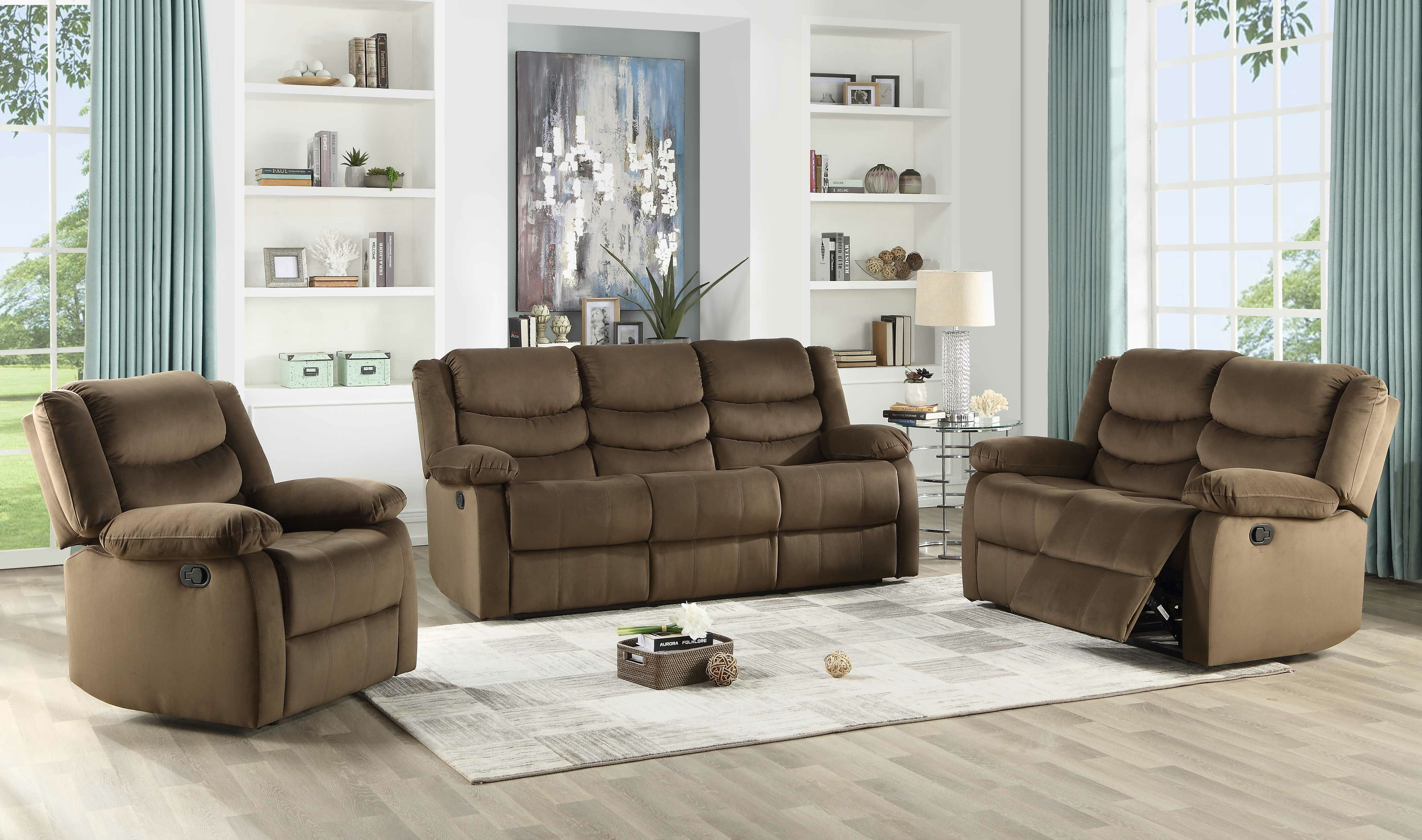 Medved 3 Piece Reclining Living Room Set throughout Room To Go Living Room Set