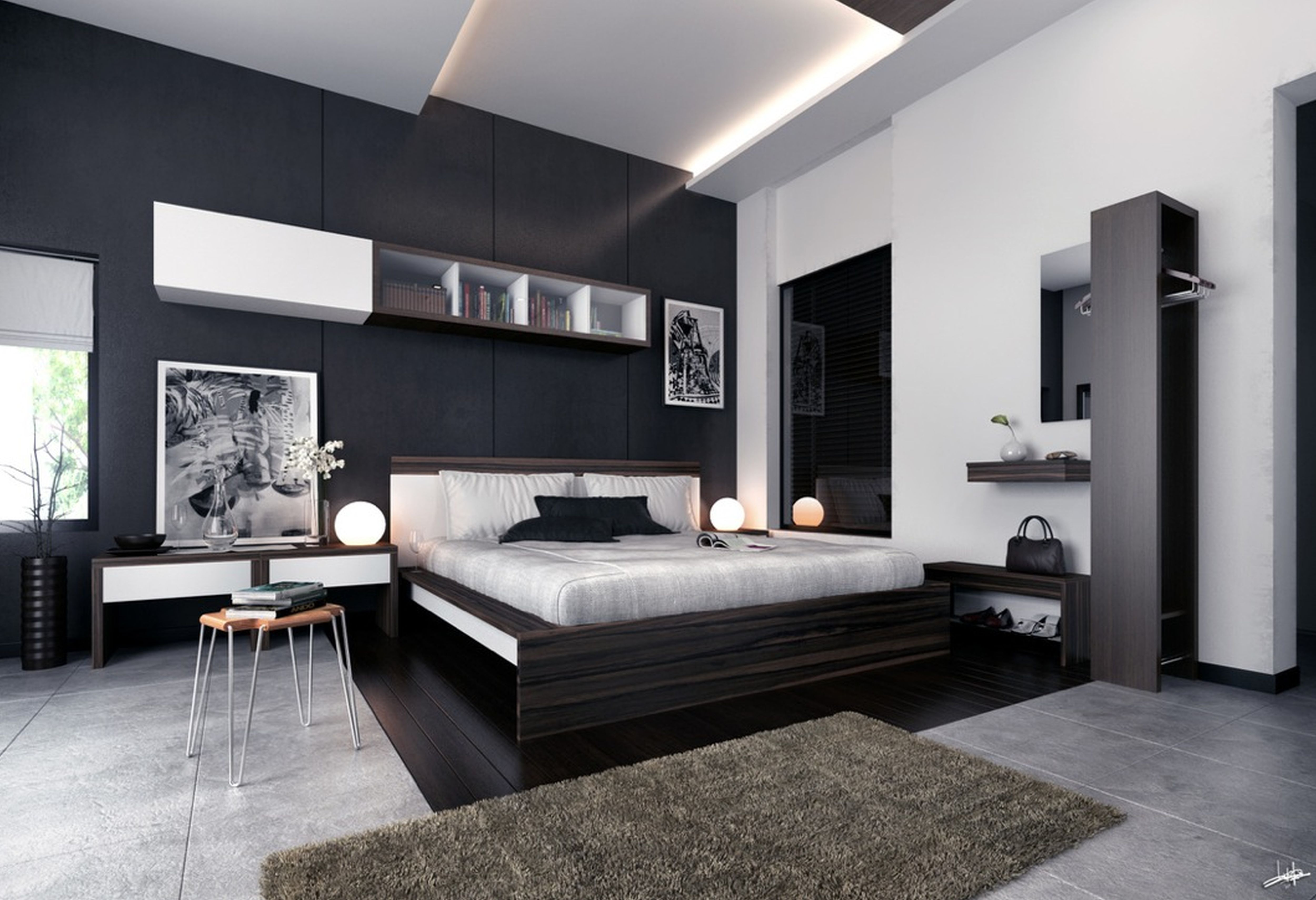 Modern Black And White Bedroom Ideas with 15 Awesome Ways How to Makeover Modern Bedroom Ideas