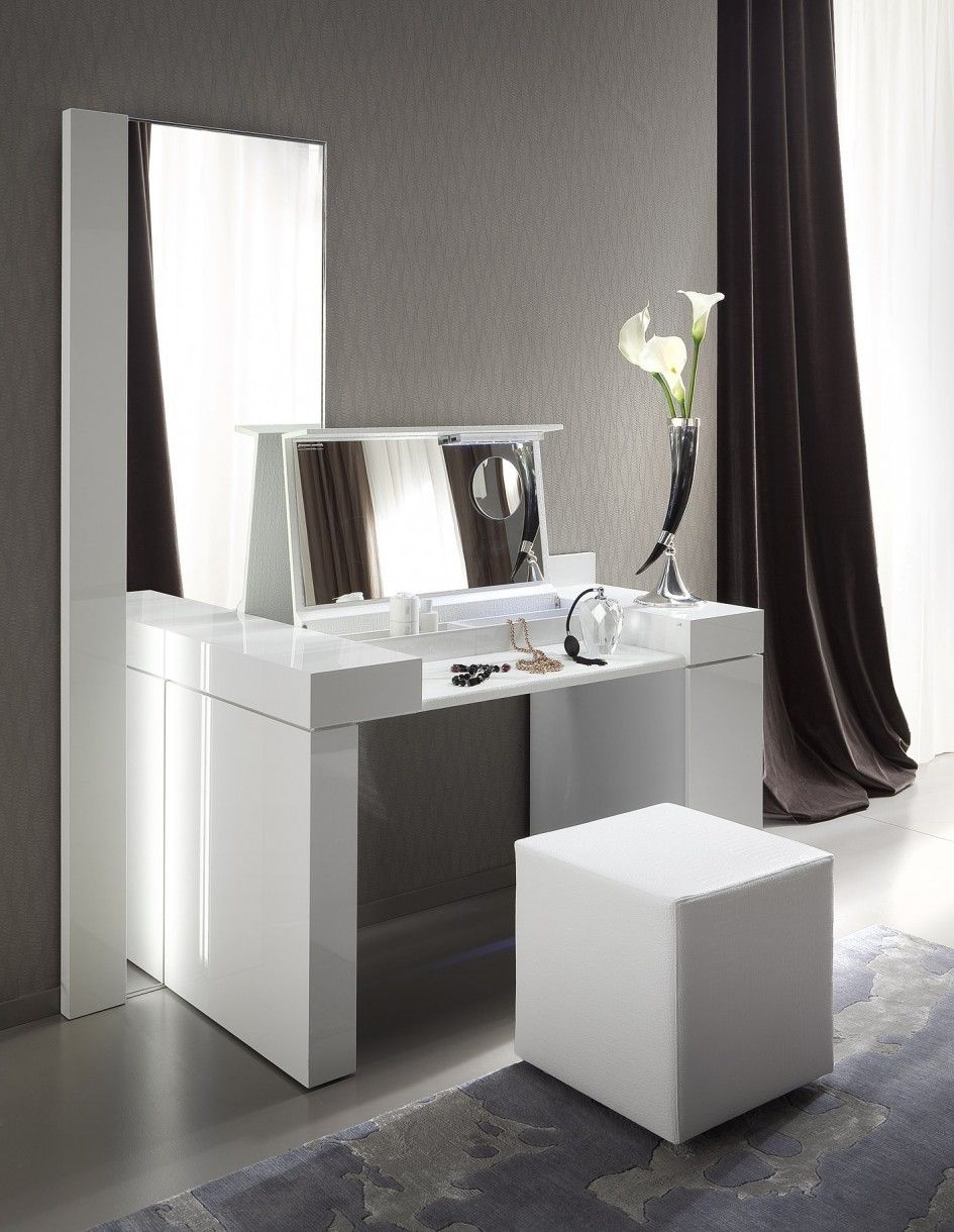 Modern White Dressing Table Hmakeup Vanityjewelry Storage for 14 Some of the Coolest Concepts of How to Upgrade Modern Bedroom Vanity Set