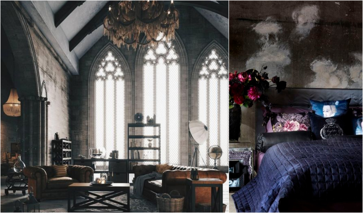 Monday Mood Board Modern Gothic Michael Murphy Home Furnishing within Modern Gothic Bedroom