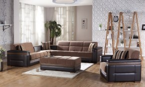 Moon Troy Brown Sectional Chair Ottoman for 13 Smart Concepts of How to Make Istikbal Living Room Sets