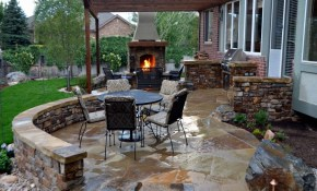 Outdoor Patio Designs Backyard Outdoor Furniture inside 15 Clever Tricks of How to Improve Stone Patio Ideas Backyard