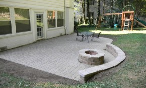 Patio Diy Paver Patio And Firepit Small Fire Pit L Ideas Sport for Stone Patio Ideas Backyard