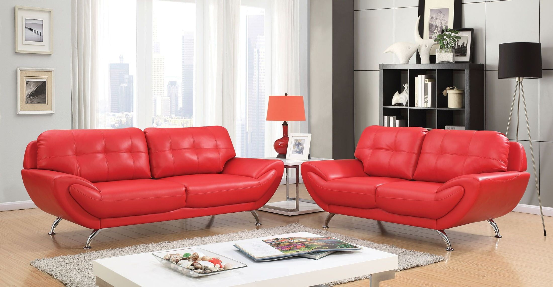 Reanna Red Living Room Set intended for 11 Genius Initiatives of How to Improve Red Living Room Sets