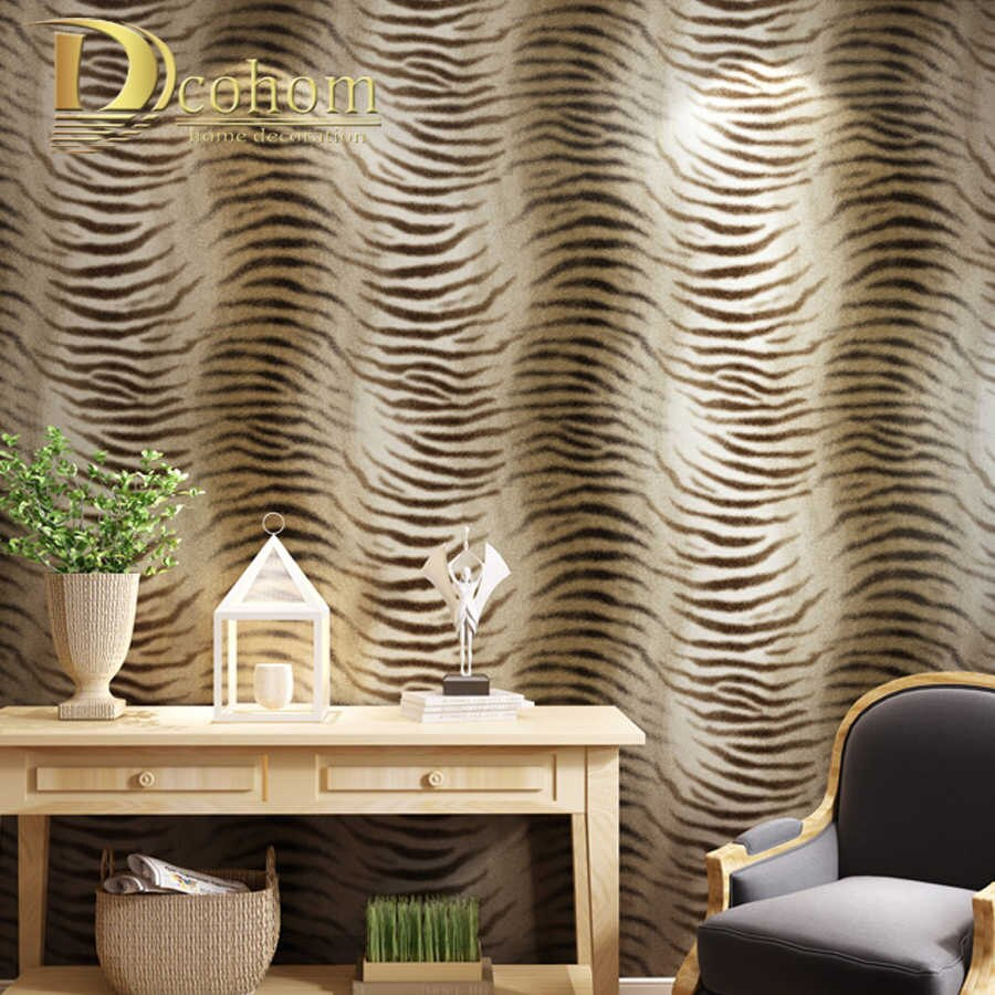 Simple Modern Wallpaper Design Tiger Skin Pattern Wallpaper For Bedroom Living Room Sofa Tv Background Decor Wall Paper Rolls with regard to 12 Smart Concepts of How to Upgrade Modern Wallpaper Bedroom