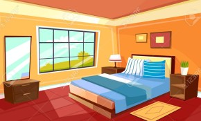 Stock Illustration in Modern House Bedroom