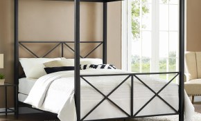 The Dhp Rosedale Metal Canopy Queen Bed Is A Sleek And Modern Bed regarding Modern Canopy Bedroom Sets