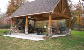 The Patio This Is What I Want Built In My Back Yard So Bad intended for Pavilion Ideas Backyard