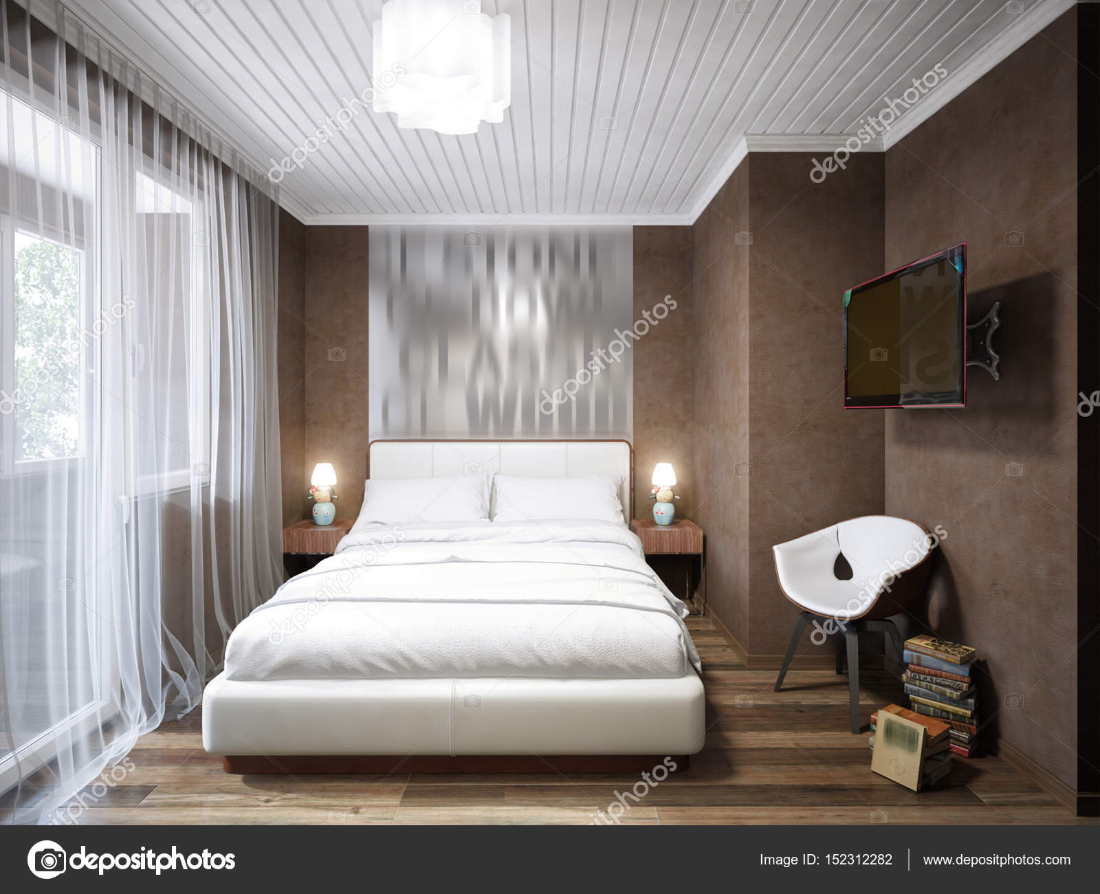 Urban Contemporary Modern Small Bedroom Interior Design Stock pertaining to Modern Small Bedroom