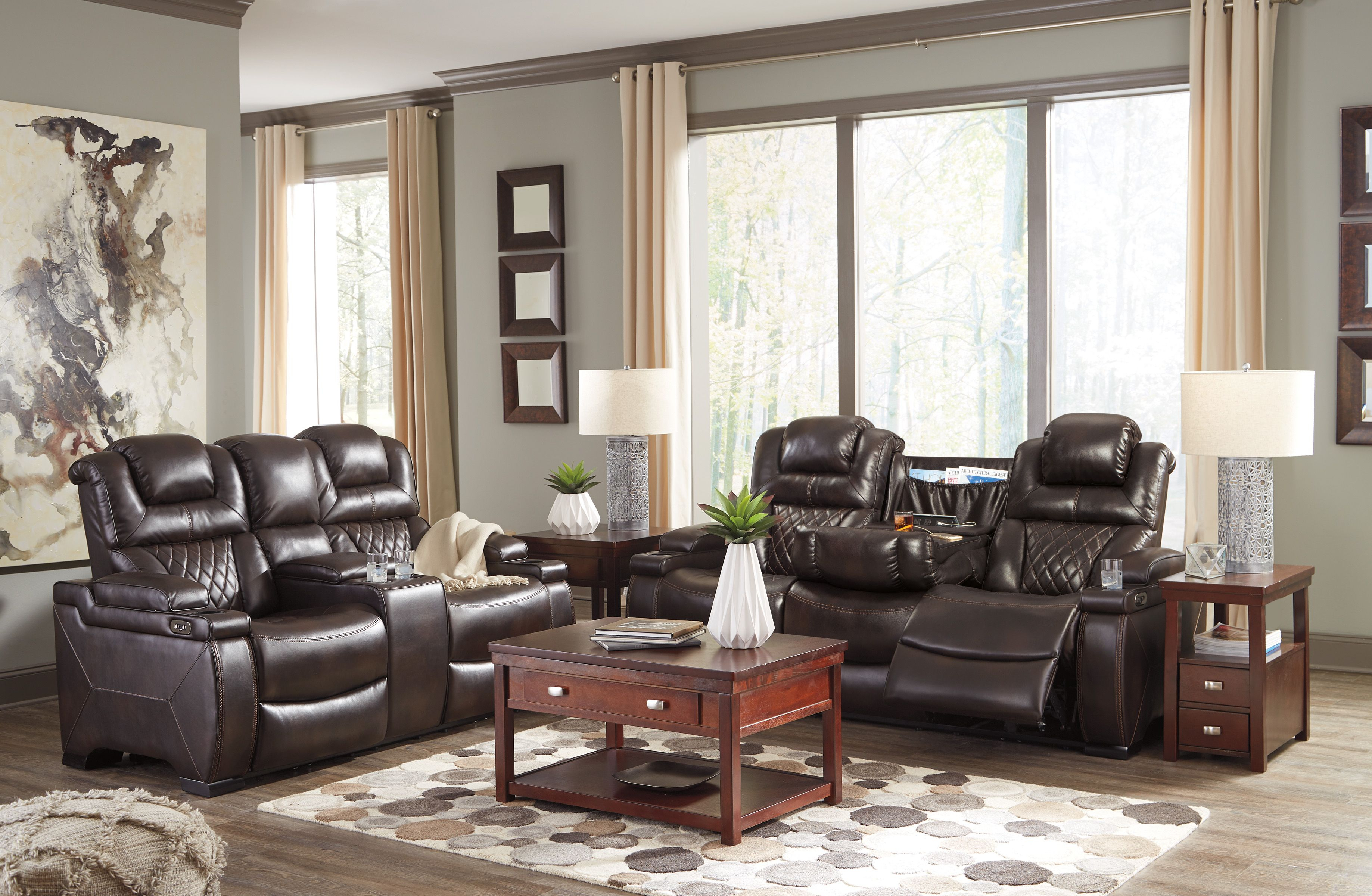Warnerton Chocolate Power Reclining Living Room Set intended for 10 Smart Designs of How to Build Complete Living Room Sets