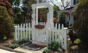 White Front Yard Garden Trellis Picket Fence Garden Gate And Arbor with 11 Some of the Coolest Tricks of How to Makeover Backyard Arbor Ideas