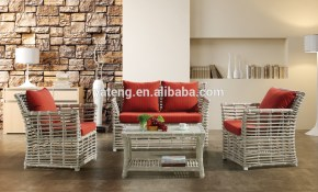 Who Sells Woven Rattan Furniture Sofa Set With Cushion Covers Used in Used Living Room Sets