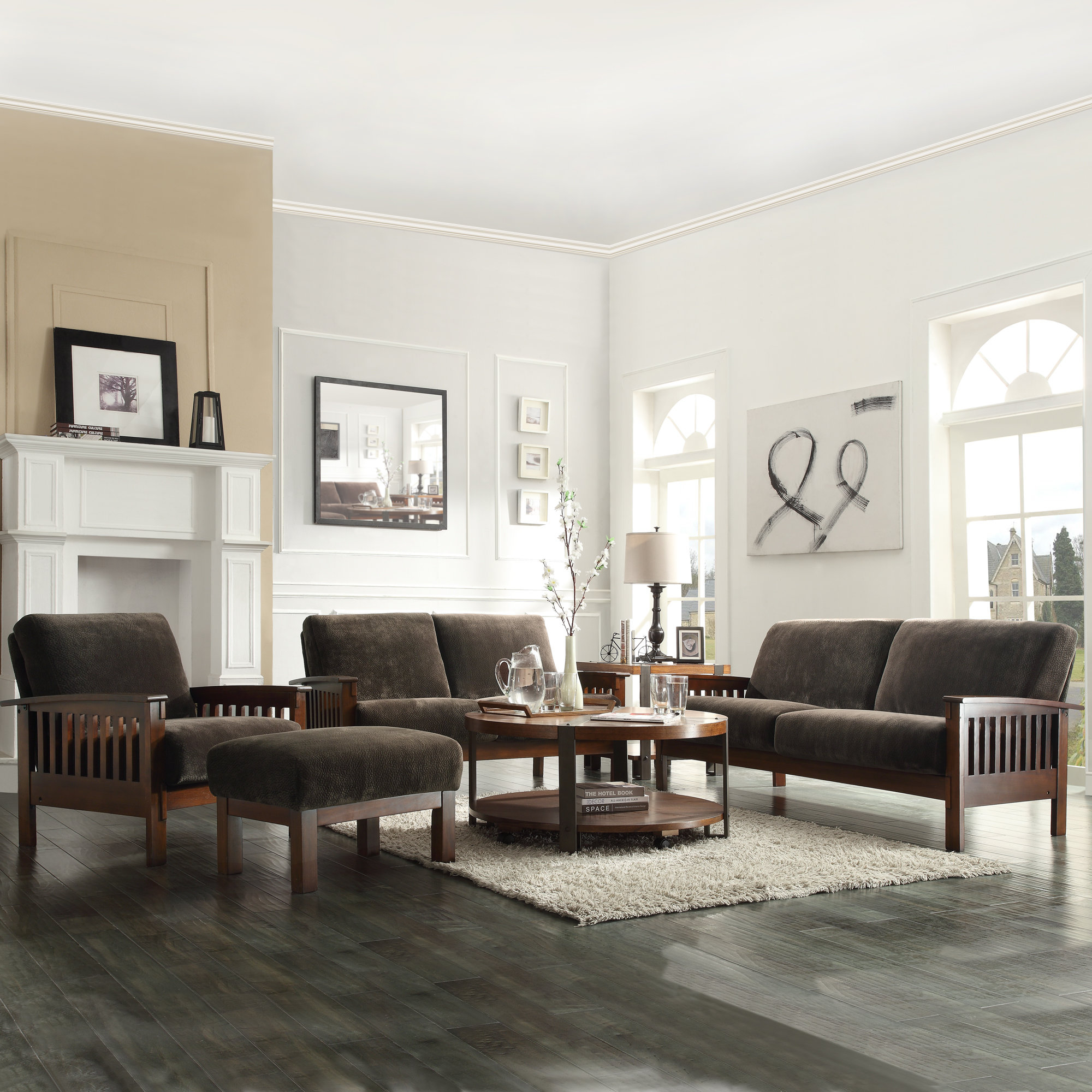 Wydmire Configurable Living Room Set within Mission Style Living Room Set