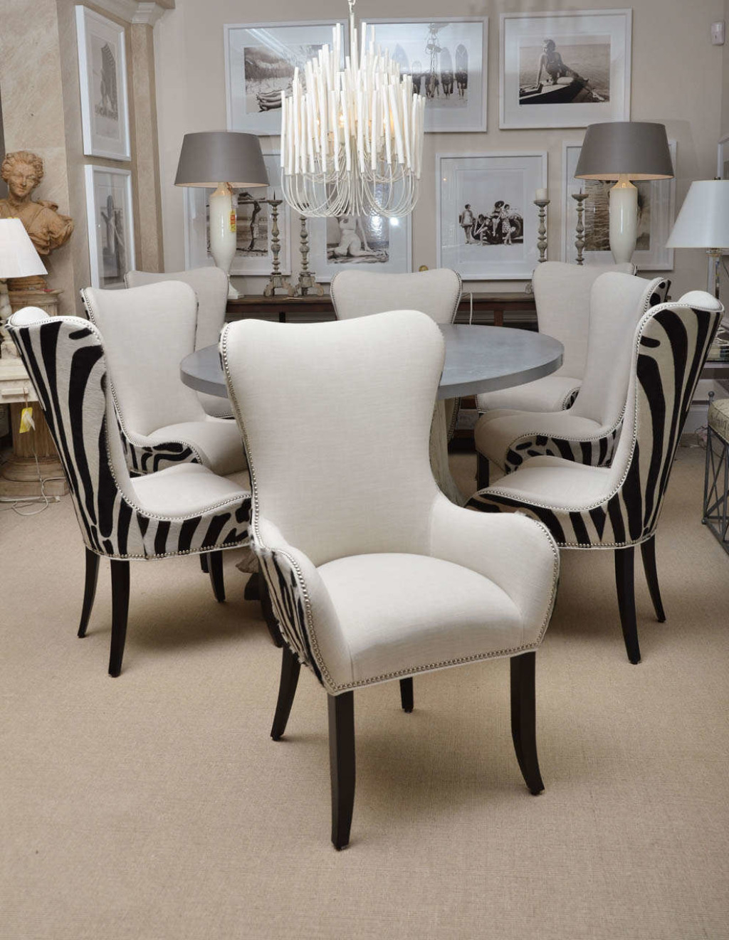 Zebra Dining Room Chairs Leopard Print Chair Covers Living Parson within Zebra Living Room Set
